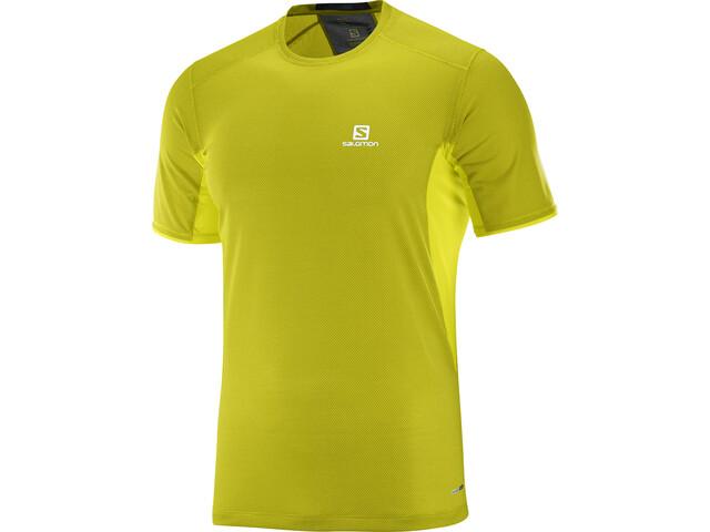 Salomon Trail Runner Running T-shirt Men yellow